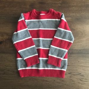4T red and gray sweater from Children's Place